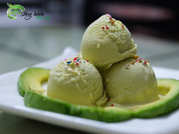 Kem bơ là món ăn ngon trong mùa hè