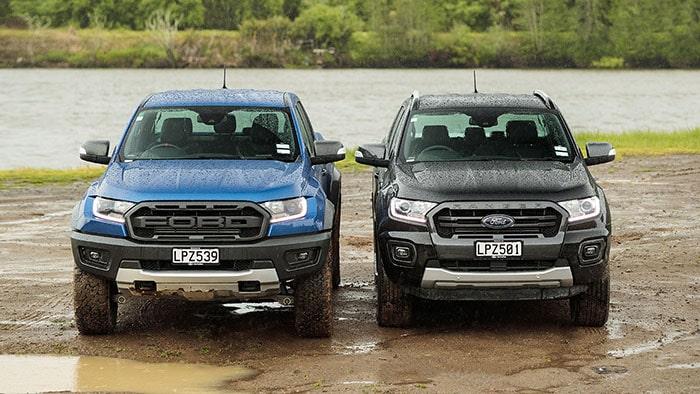 Hai phiên bản Ford Ranger Raptor và Ford Ranger