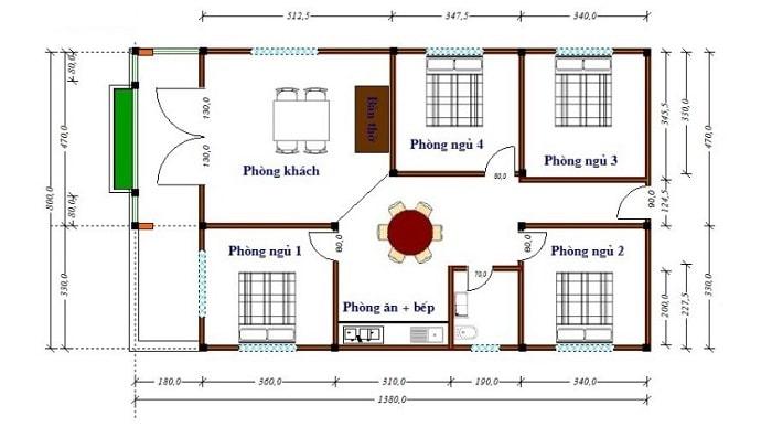Thiết kế phòng ngủ và phòng vệ sinh tách biệt nhau