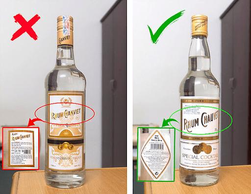 Nhãn rượu in thông tin không rõ ràng
