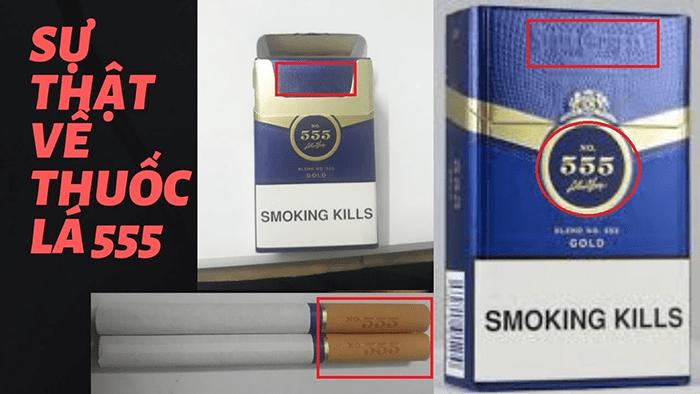 Nhận biết thuốc lá thật và giả qua bao bì
