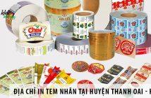 Địa chỉ in tem nhãn giá rẻ tại huyện Thanh Oai – Hà Nội