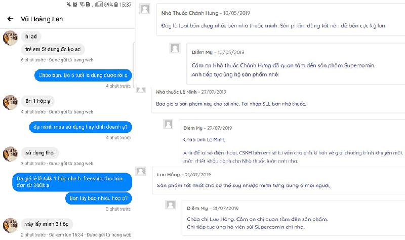 Phản hồi của khách hàng khi dùng Viên sủi C Supercomin Effervescent