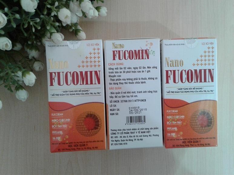 Viên uống Nano Fucomin – Học viện Quân Y