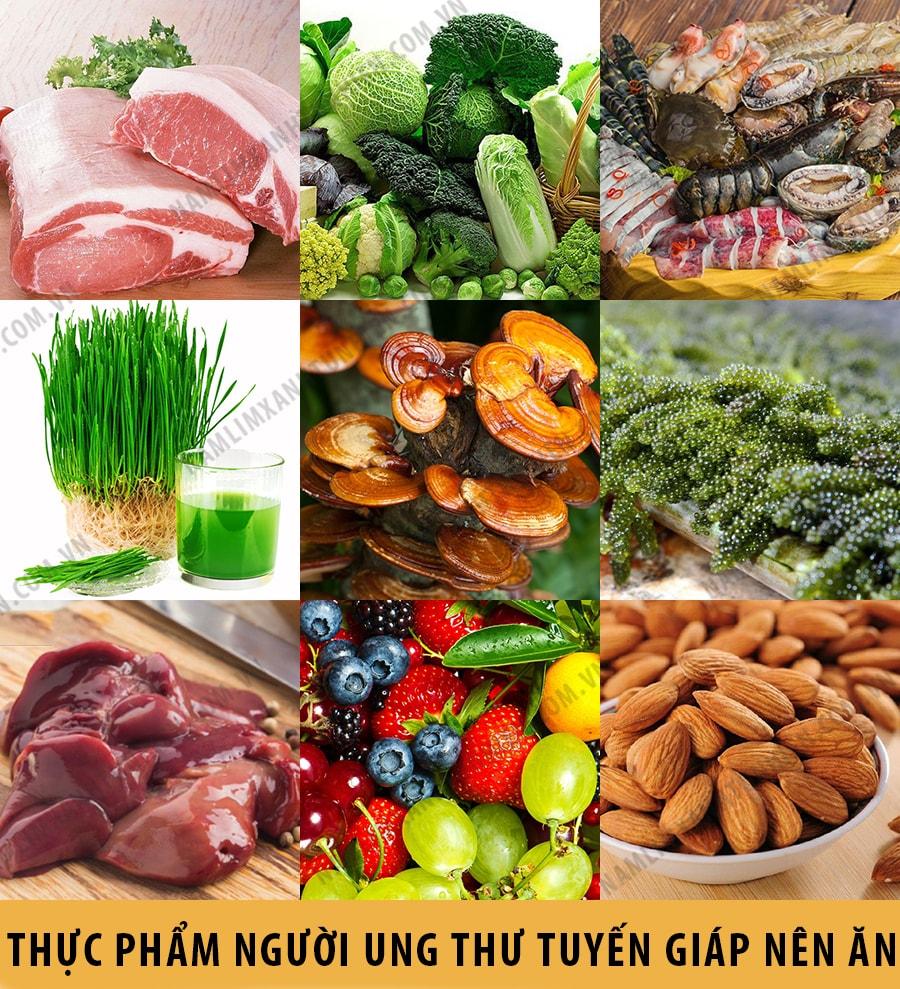 Những thực phẩm mà người bị ung thư tuyến giáp nên ăn